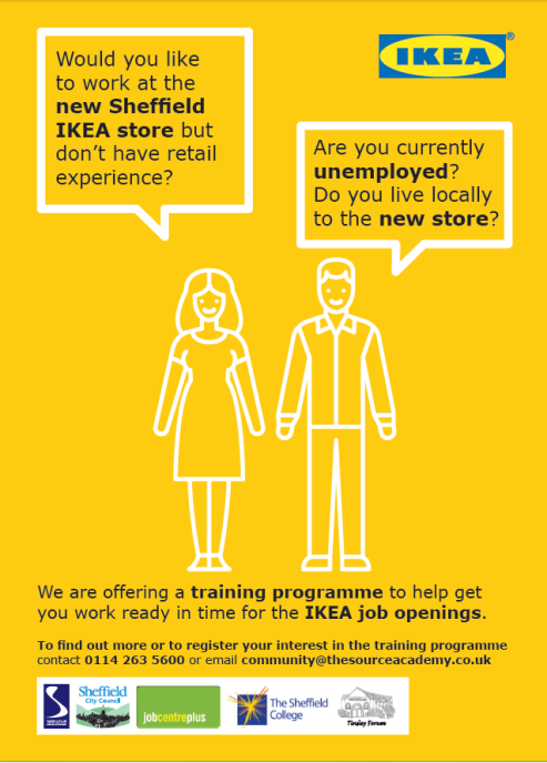 Courses and employment east sheffield Ikea security jobs